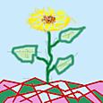ココログお絵描きツールで お花