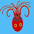 ココログお絵描きツールで  タコのアシ