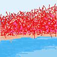 ココログお絵描きツールで  サンゴ草