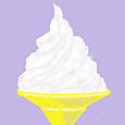 ココログお絵描きツールで  ソフトクリーム