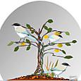柿の木にオナガ
